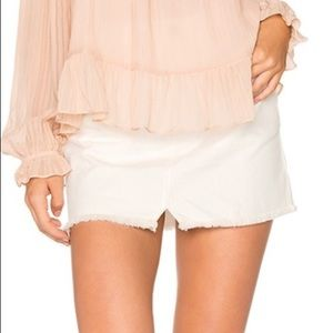 Free People | Step Up Denim Mini Skirt | Size 12